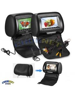 POGGIATESTA MONITOR 7 POLLICI LETTORE DVD AUTO CAMPER SCHERMO FM USB SD TFT LCD