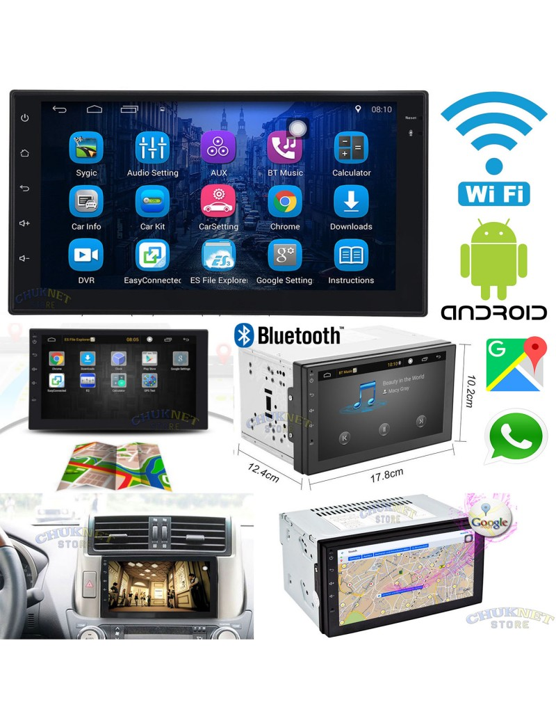 autoradio stereo android 3g wifi 7 pollici gps navigatore auto 2din bluetooth touch screen usb. Black Bedroom Furniture Sets. Home Design Ideas
