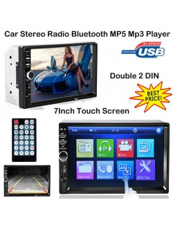 "7"" AUTORADIO STEREO HD MP5 LETTORE RADIO 2DIN FM USB AUX BLUETOOTH MP3 WMA TOUCH"