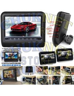 POGGIATESTA COPPIA MONITOR 9 POLLICI SCHERMO DIGITALE LCD DVD AUTO LRTTORE USB SD TELECOMANDO