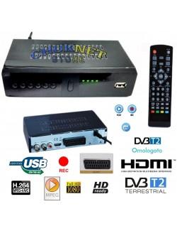 DECODER DIGITALE TERRESTRE RICEVITORE DVB-T2 HDMI 1080P TV SCART REG PVR HD