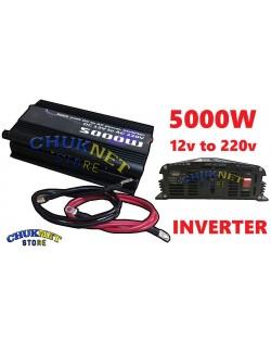 INVERTER 5000W WATT 12V 220V TRASFORMATORE AUTO CAMPEGGIO BARCA PC PRESA USB SG POWER ONDA SINUSOIDALE
