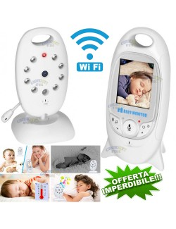 VIDEO BABY MONITOR AUDIO WIRELESS SENZA FILI COLORI LCD LED CONTROLLO NEONATO CAM WIFI CAMERA SORVEGLIANZA NOTTURNA