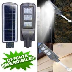 FOTOVOLTAICO 60 WATT LAMPIONE STRADALE 60 LED PANNELLO ENERGIA SOLARE ESTERNO