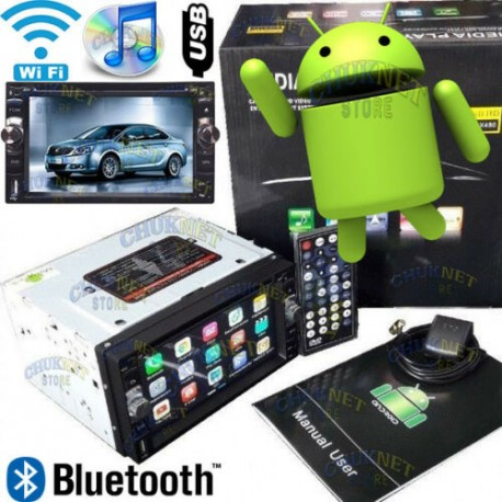 AUTORADIO 7.0 ANDROID QUAD CORE WIFI CD DVD 2DIN GPS NAVIGATORE BLUETOOTH USB SD