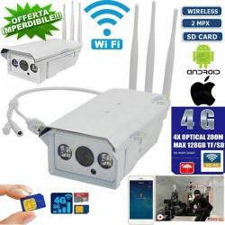 TELECAMERA 2 MPX WIRELESS IP CAM WIFI 4G 3G GSM CLOUD SD IP ONVIF CAMERA