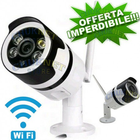 IP TELECAMERA SMART CAMERA IP CAM ESTERNO ANDROID IOS WIFI WIRELESS 2MPX FULL HD