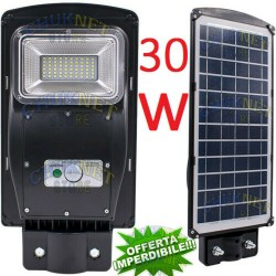 Luce Per Esterno Con Pannello Solare.Lampione Stradale 30w Fotovoltaico Pannello Solare Faro Led Esterno Faretto Luce