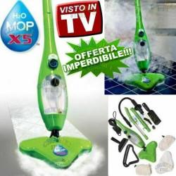 H2O MOP X5 SCOPA A VAPORE ELETTRICA VAPORETTO IGIENIZZANTE STERILIZZATORE LAVAPAVIMENTI LAVA TV