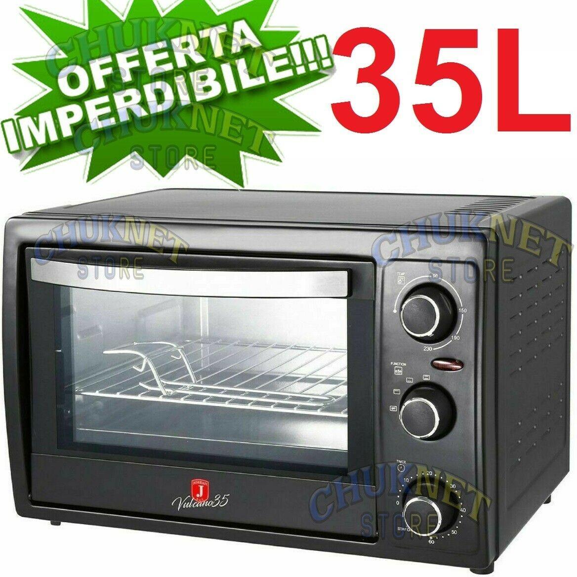 Forno elettrico cucina ventilato 35L 1500w termostato regolabile acciaio jordan
