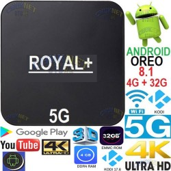 ANDROID 8.1 OREO SMART TV 5G QUAD CORE BOX 4K WIFI 4GB RAM 32GB IPTV KODI 3D HD