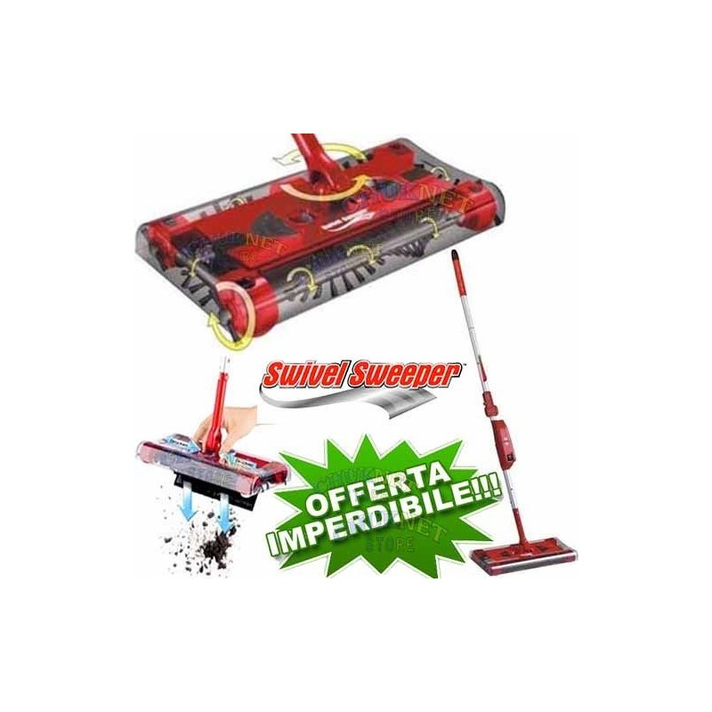 Batteria Scopa Ruotante Swivel Sweeper.Aspirapolvere Elettrica Scopa Rotante Senza Fili Ricaricabile Rotante