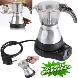 MACCHINA CAFFE' CAFFETTIERA ELETTRICA MOKA ESPRESSO MOCA CORDLESS CAFFE 400WATT