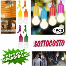 LUX COLORS LAMPADINA LED PORTATILE HANDY VISTA IN TV LAMPADA PESCA COLORATA 4PZ