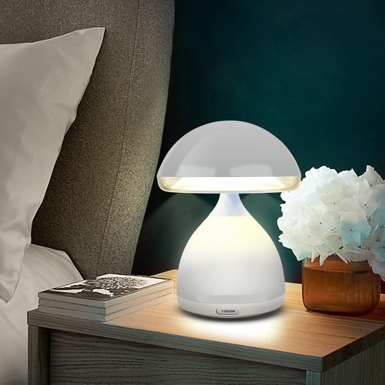 Lumino Lampada Fungo Led 7 Colori Rgb Cromoterapia Tavolo Senza Fili