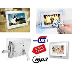 Cornici Digitali Con Usb.Cornice Digitale 7 Pollici Usb Foto Video Mp3 Jpg Sd Card Con Telecomando Led