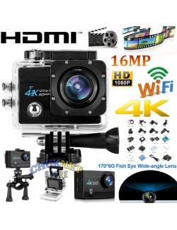 SPORT CAM 4K ACTION CAMERA WIFI 16MP SUBACQUEA