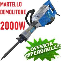 MARTELLO DEMOLITORE PNEUMATICO 2000W VERTICALE 95MM