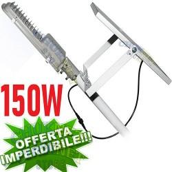 FARO FARETTO LAMPIONE 150W 300 LED PANNELLO ENERGIA SOLARE FOTOVOLTAICO BATTERIA