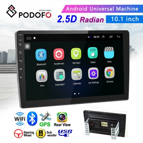 "AUTORADIO ANDROID 9.1 WiFi STEREO 10.1"" POLLICI GPS NAVIGATORE AUTO 2DIN BLUETOOTH TOUCH SCREEN USB MP3 MP5"