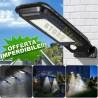 LAMPIONE STRADALE PANNELLO ENERGIA SOLARE FARO FOTOVOLTAICO ESTERNO 60W LED LUCE