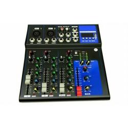 MIXER AUDIO 4 CANALI PROFESSIONALE USB CON ECHO DELAY DJ KARAOKE PIANOBAR LIVE