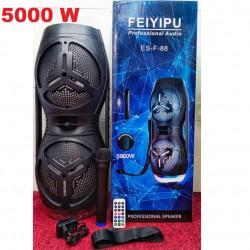 KARAOKE CASSA AMPLIFICATA 5000W MP3 RADIO MICROFONO BLUETOOTH USB SD AUX