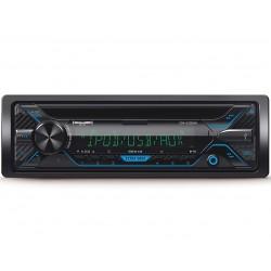 AUTORADIO 1DIN CD DVD MP3 AUX USB SD VIVAVOCE BLUETOOTH STEREO AUTO LETTORE 60W X4 FRONTALINO ESTRAIBILE