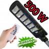LAMPIONE STRADALE PANNELLO ENERGIA SOLARE FARO FOTOVOLTAICO ESTERNO 500W LED LUCE TELECOMANDO