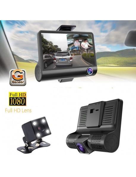 "KIT DVR AUTO 3 TELECAMERE VIDEOREGISTRATORE CAMERA FULL HD 1080P MONITOR 4"" VIDEO CAMPER"